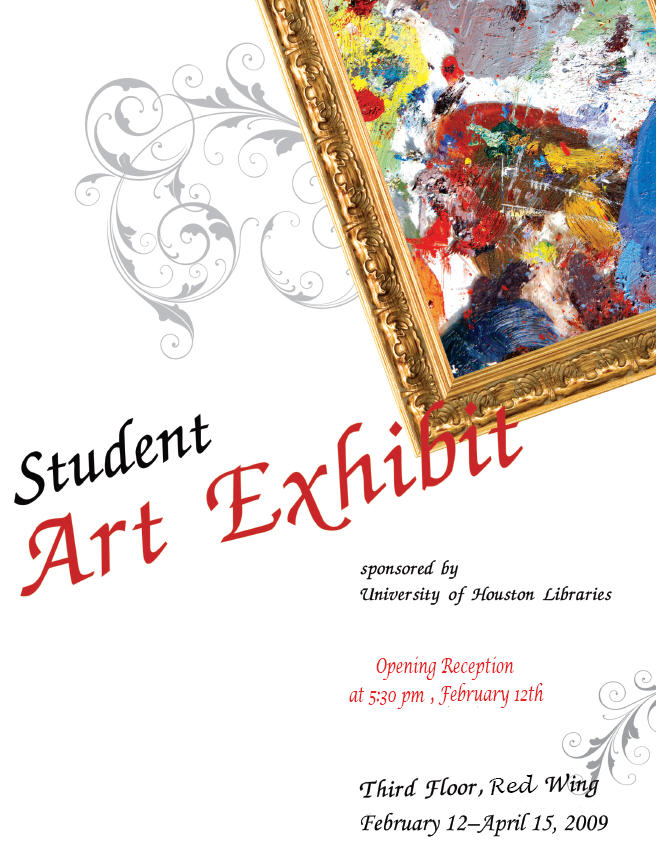 Student Art Exhibit Flyer