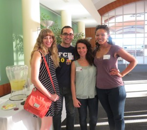 Grad students meet and mingle with subject librarians and colleagues at the M.D. Anderson Library