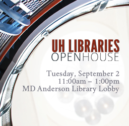 Join us for the UH Libraries Open House on September 2.