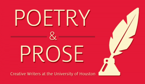 The 2015-2016 season of Poetry and Prose: Creative Writers at the University of Houston kicks off on September 16.