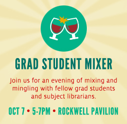 UH graduate students are invited to the Grad Student Mixer on October 7.