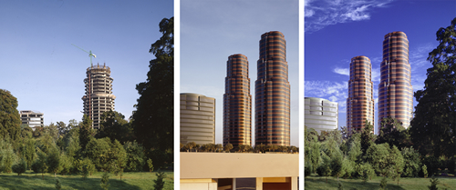 Composite of Hines Del Bosque, Mexico City. Image courtesy of Joe Aker.