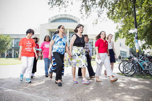 Librarians and staff of the University of Houston Libraries are exploring wellness at work through Walk Across Texas.