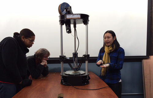 The UH Libraries Liaison Services group visited TXRX Labs. Photo provided by Lindsay Cronk.