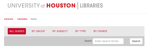 The UH Libraries' Research Guides provide greater usability.