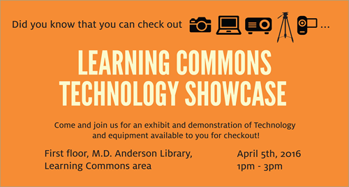 UH students, faculty and staff are invited to the Learning Commons Technology Showcase.