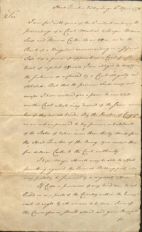 One of the items donated to Special Collections by Mrs. Pratt: correspondence from General George Washington to Israel Shreve on April 6, 1778, sent from Headquarters in Valley Forge.