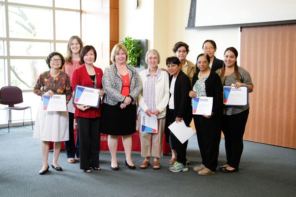 Dean Lisa German with the Outstanding Group Award recipients.