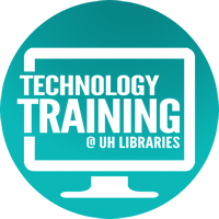 Technology training at UH Libraries is open to all students, faculty and staff.
