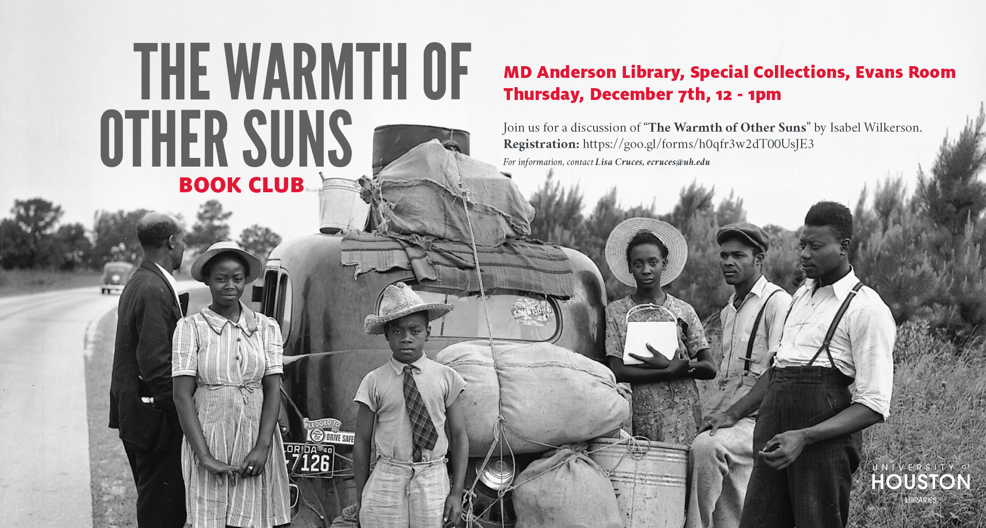 "Join us on Thursday, December 7 for a discussion of ""The Warmth of Other Suns."""