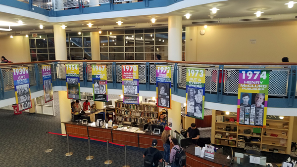 The Banner Project is on display at UH Libraries.