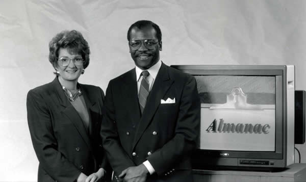 Betty Ann Bowser and JD Houston, hosts of Almanac