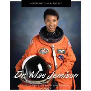 Dr. Mae Jemison in space suit