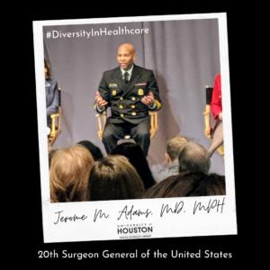 Jerome Adams wearing military uniform