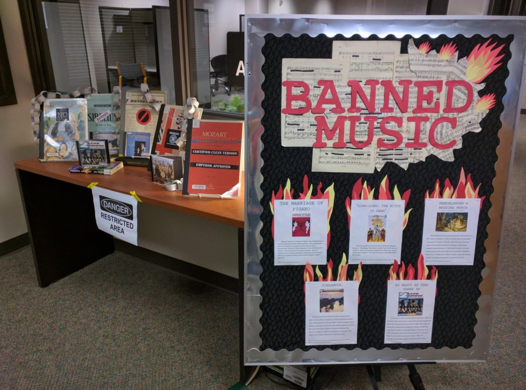 Banned Music Display