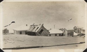 1915 Hurricane house damage
