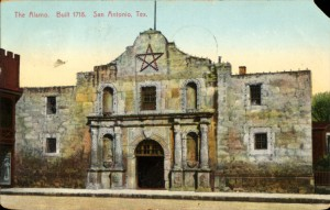 Alamo Postcard from the George Fuermann Collection