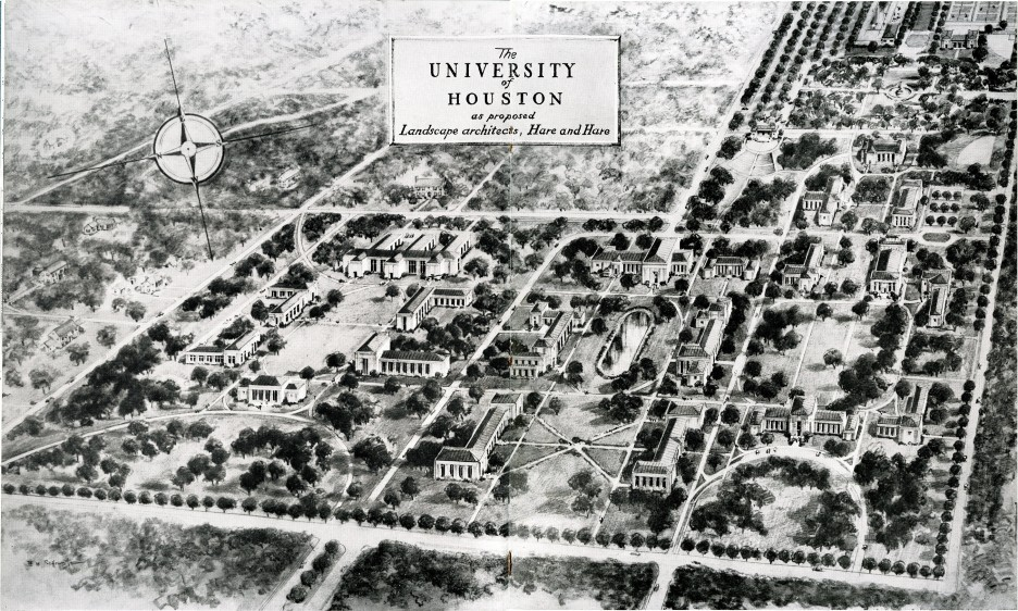 The University Of Houston As Proposed By The Landscape Architects Hare U0026  Hare.