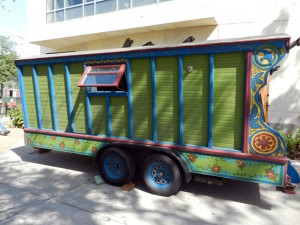 The Thomas's gypsy wagon