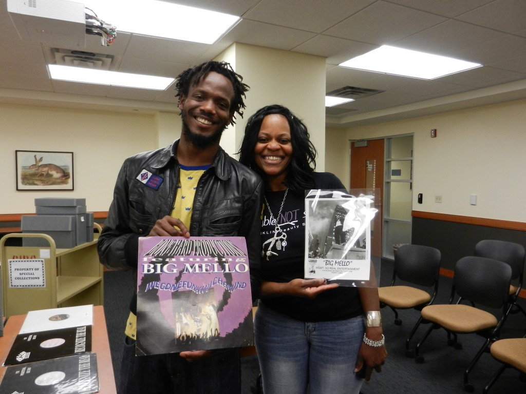 Big Mello's son Andrew Davis and sister Tammy Davis visit Special Collections