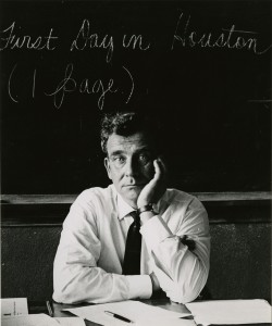 Jan de Hartog, University of Houston, 1962
