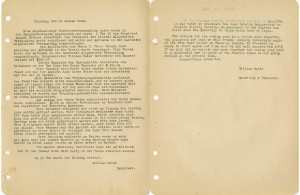 Houston Saengerbund meeting minutes reflecting the shift in language from German to English as the U.S. enters WWII