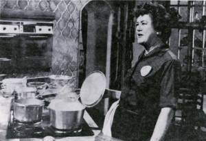 Julia Child stops by the KUHT studios to give a cooking demonstration