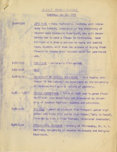 KUHT program schedule from May 26, 1953