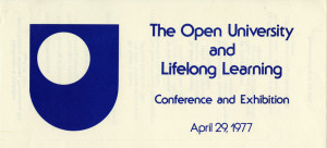 promotional material from the Open University Conference, April 29, 1977