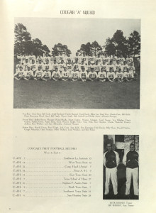 the first ever UH football team, the 1946 Houston Cougars, from the Houstonian yearbook