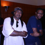 DJ and rapper Icey Hott, of classic Houston group Street Military, with blogger Jonathan Scroggins of A Day and a Dream