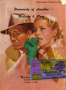 Homecoming program from 1950, from the Athletics Department Records