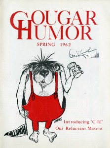 cover of Cougar Humor published in the spring 1962, from the Student Organization Records, University Archives