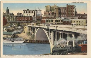 "Main Street Viaduct, from the George Fuermann ""Texas and Houston"" Collection, University of Houston Libraries' Special Collections"