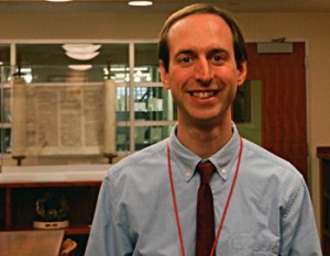 Matt Richardson, photographed in the Special Collections Reading Room