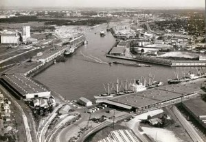 Houston Ship Channel, Turning Basin, from the James H. Branard Jr. Port of Houston Collection, University of Houston Libraries' Special Collections