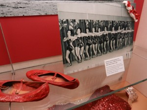 "From the exhibit:  Costume and Photograph from ""Devil's Dance,"" Beta Chi Sorority, Silver Moon Saloon. 1954"