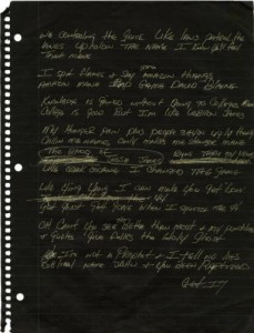 page from HAWK's notebook