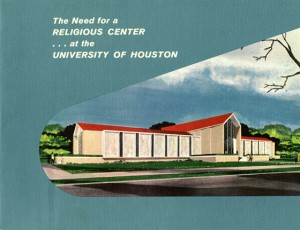 promotional material for the proposed Religion Center, from the UH Business Manager (McElhinney) Records