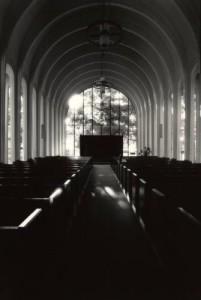 Interior, A.D. Bruce Religion Center, from the UH Photographs Collection