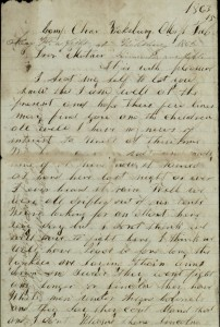 """... I don't think we will have to fight here.  I think we will have peace before long..."" (from M.L. Calk's letter home, prior to the Siege of Vicksburg)"