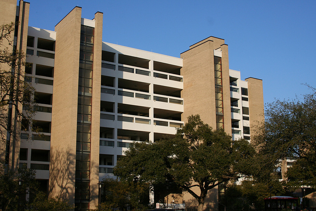 Kenneth E. Bentsen, Agnes Arnold Hall (1968), south elevation