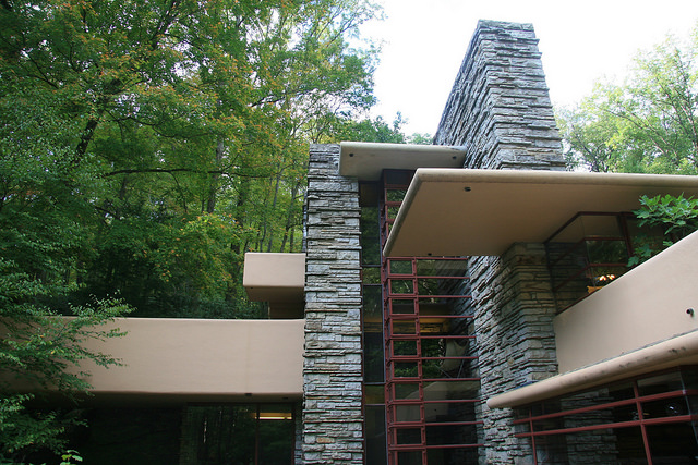 Frank Lloyd Wright, Fallingwater, detail, Bear Run, PA (1936)