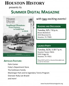 The summer 2014 digital issue of Houston History features a piece on the history of Foley's in the city of Houston