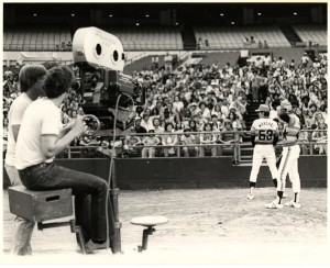 Filming Murder at the World Series (1976) / photo by George Wilkins, Paddock Greater Houston Convention & Visitors Council Records