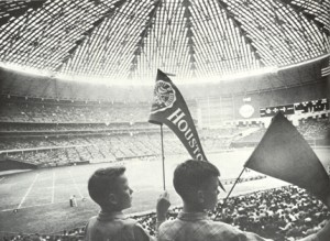 "First Homecoming in the Astrodome, 1965 (from the online exhibit, ""UH Homecoming Through the Years"")"