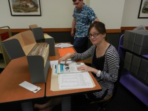 The course was also open to advanced undergraduate students, one of whom is pictured here.