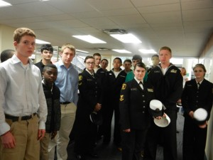 The Sea Cadet Corps of Houston visits the University of Houston Special Collections