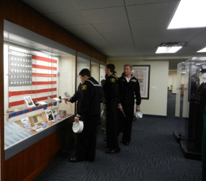 The Sea Cadets tour the USS Houston permanent exhibit