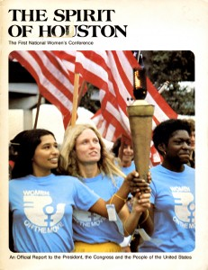 cover of The Spirit of Houston. The First National Women's Conference. An Official Report to the President, the Congress, and the People of the United States. (1972)